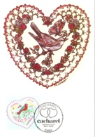 Carte Maximum YT 3748 Coeur Saint-Valentin Couturier Cacharel, 1er Jour 29 01 2005 Paris 75 TBE Mode, Couture - Maximum Cards