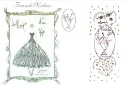 Carte Maximum YT 4128 Et 4129, 2 Coeurs Saint-Valentin Couturier Franck Sorbier, 1er Jour 05 01 2008 Paris 75 TBE Mode - 2000-09