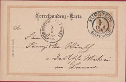 1898 Entier Postal Postwaardestuk EP 2 Zwei Kreuzer Osterreich Autriche Kufstein Bahnhof Ganzsache Correspondenz Karte - Entiers Postaux