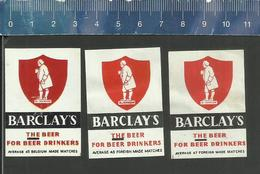 BARCLAYS THE BEER FOR BEER DRINKERS  ( BIER BIÈRE ALE CERVEZA ) Matchbox Labels Belgium & Foreign Made - Boites D'allumettes - Etiquettes