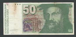 SUISSE  SWITZERLAND RARE  50  FRANCS  1978   SEE IMAGE - Switzerland