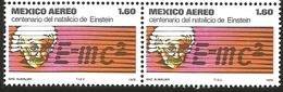J) 1979 MEXICO, PAIR, ALBERT EINSTEIN (1879-1955), THEORETICAL PHYSICIST, EINSTEIN AND HIS EQATION, SCOTT C592, MN - Mexico