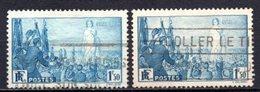 1936 FRANCE PEACE PROPAGANDA 2x Stamps MICHEL: 334 USED - Gebraucht