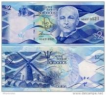 BARBADOS       2 Dollars       P-73        2.5.2013        UNC - Barbados (Barbuda)