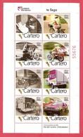 2008 MÉXICO DÍA DEL CARTERO, HOJA SOUVENIR 8 V. Sc 2596 MNH LETTER CARRIER'S DAY,  POSTMAN'S DAY, MOTORCYCLE, ,BIKE MNH - Mexico