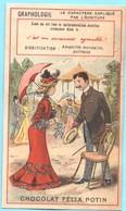 Chromo Chocolat Félix Potin. Graphologie. Amabilité Mondaine, Politesse. Lit. Champenois TM 26-58/3 - Otros