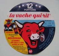 """Etiquette Fromage Fondu - Vache Qui Rit - 12 Portions Bel Pub """"GOLDORAK Concours De B.D""""   A Voir ! - Fromage"""