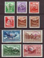Liechtenstein 1934, Dienstmarken 11-19* Mit 15 A + B, Hoher Katalogwert !!! - Ungebraucht