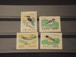 COREA NORD - 1965 UCCELLI 4 VALORI - NUOVI(++) - Corea Del Norte