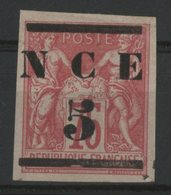 NOUVELLE CALEDONIE / COLONIES Cote 70 € N°7, 5 Sur 75ct Rose Neuf Sans Gomme (*)/MNG. TB - New Caledonia