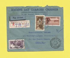 Asie Lettre Recommandée Par Avion  Du Vietnam De Saïgon  R P Le 11 10 51 Pour Paris  Voir Scanner - Viêt-Nam