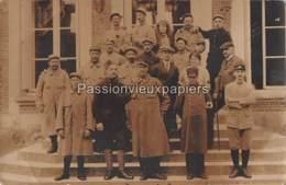 CARTE PHOTO AMFREVILLE LA CAMPAGNE AMBULANCE 1916 ASSISTANCE AUX CONVALESCENTS MILITAIRES - Autres Communes