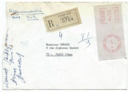 ENVELOPPE RECOMMANDEE / PARIS XIV  / 1971 - Storia Postale