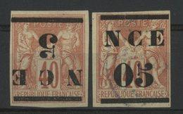 NOUVELLE CALEDONIE / COLONIES Cote 65 € N° 6a Surcharge Renversée + N° 6 Oblitéré. TB - Nouvelle-Calédonie