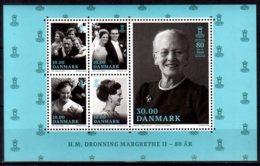 2020 Denmark - 80 Years Of Danish Queen Margarethe II - MS MNH** Photos Of The Queen, Family, - Unused Stamps