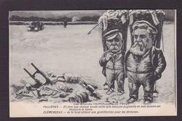 CPA BIANCO Fallières Président De La République Satirique Caricature Non Circulé Politique Clemenceau - Satiriques