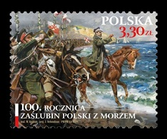 Poland 2020 Mih. 5184 Poland's Wedding To The Sea. Painting Of Wojciech Kossak. General Jozef Haller. Horses MNH ** - 1944-.... República