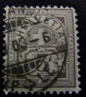 SUISSE 1905  Y&T N°101, 3c. Gris - Oblitéré - Usati