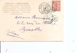 Levant Français ( CP De 1904 De Salonique Vers La Belgique à Voir) - Levant (1885-1946)