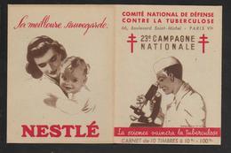 TUBERCULOSE 1953/1954 - 23° CAMPAGNE - CARNET ENTIER - Antituberculeux