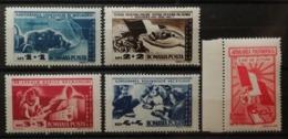 Roumanie 1947 / Yvert N°1002-1006 / ** - 1918-1948 Ferdinand I., Charles II & Michel