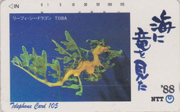 TC JAPON / NTT 290-112 - ANIMAL - HIPPOCAMPE - SEA HORSE JAPAN Phonecard - Poissons