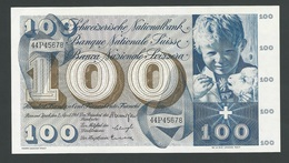SUISSE  SWITZERLAND RARE 100 FRANCS  1964  UNC - Switzerland