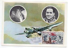C . M -- 1973 -- CODOS-GUILLAUMET--(avion) -cachet  IVIERS -02 ............ à Saisir - Maximumkarten