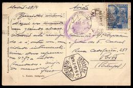 Tarjeta Postal 1940, Circulada De MADRID España Para PORTO Portugal, Con CARIMBO CENSURA NACIONALISTA - Marques De Censures Nationalistes