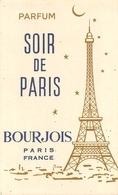 Carte Parfumée Soir De Paris Bourgeois Parfum - Cartes Parfumées
