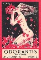 Carte Parfumée Orodantis Giraud Illustrateur Pavis Parfum - Cartes Parfumées