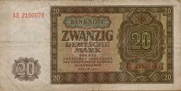 1948 DDR 20 Marks P#13b - 20 Deutsche Mark