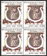 J) 1979 MEXICO, BLOCK OF 4, APOLLO 11 MOON LANDING, 10TH ANNIVERSARY, MOON SYMBOL FROM MEXICAN CODEX, SCOTT C624, MN - Mexico