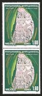 J) 1980 MEXICO, PAIR, PREHISPANIC MONUMENTS, TLALOC, WATER GOD, SCOTT C625, MN - Mexico