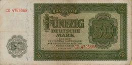 1948 DDR 50 Marks P#14b - [ 6] 1949-1990 : GDR - German Dem. Rep.
