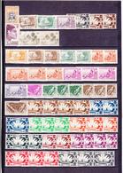 UN LOT DE 98 TIMBRES NEUFS**, NEUFS*,( 88 )  OBLITéRéS ( 10 ) DONT MULTIPLES - Oceanië (1892-1958)