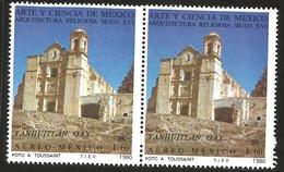 J) 1980 MEXICO, PAIR, ART AND SCIENCE OF MEXICO RELIGIOUS ARCHITECTURE OF THE XVI CENTURY, YANHUITLAN, OAXACA, MN - Mexico