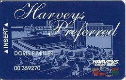 Harvey's Casino - Council Bluffs, IA - Slot Card - No Manufacturing Mark - Casino Cards