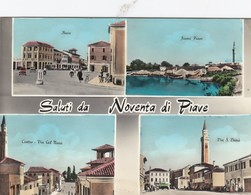 NOVENTA DI PIAVE-VENEZIA-SALUTI DA-MULTIVEDUTE(4 IMMAGINI)CARTOLINA  VIAGGIATA IL 18-1-1964 - Venezia (Venice)