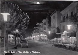 JESOLO LIDO-VENEZIA-VIA BAFILE(NOTTURNO)CARTOLINA  VIAGGIATA IL 7-8-1966 - Venezia (Venice)