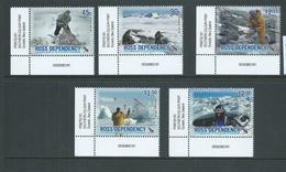 Ross Dependency 2006 New Zealand Antarctic Programme Anniversary Set 5 Matched Corner Singles MNH - Ongebruikt