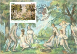 Carte Maximum YT 3894, Baigneuses De Paul Cézanne, 1er Jour 08 04 2006 Atelier Des Lauves Aix-en-Provence 13 TBE - 2000-09