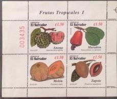 El Salvador MNH Sheetlet 1997 : Fruit - El Salvador