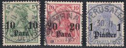 LEVANTE, UFFICI TEDESCHI - 1905 - Lotto Comprendente 3 Valori Usati: Yvert 29/31. - Bureau: Turquie