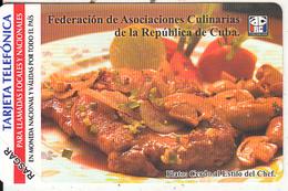 CUBA(Urmet) - Plato 2/Cerdo Al Estilo Del Chef, 01/06, Mint - Cuba