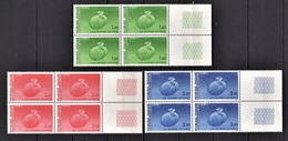 FRANCE 1984 / 1985 - SERIE 3 BLOCS DE 4 TS / Y.T. N° 85 A 87 - NEUFS** - Service