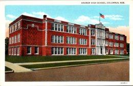 Nebraska Columbus Kramer High School Curteich - Columbus