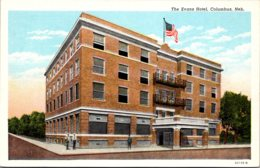 Nebraska Columbus The Evans Hotel Curteich - Columbus