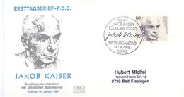 GERMANY FDC COVER  JACOB KAISER 1988 (FEB20593) - Celebrità