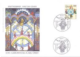 GERMANY FDC COVER 100 GEBURTSTAG CARL ORFF 1995  (FEB20597) - [6] Oost-Duitsland